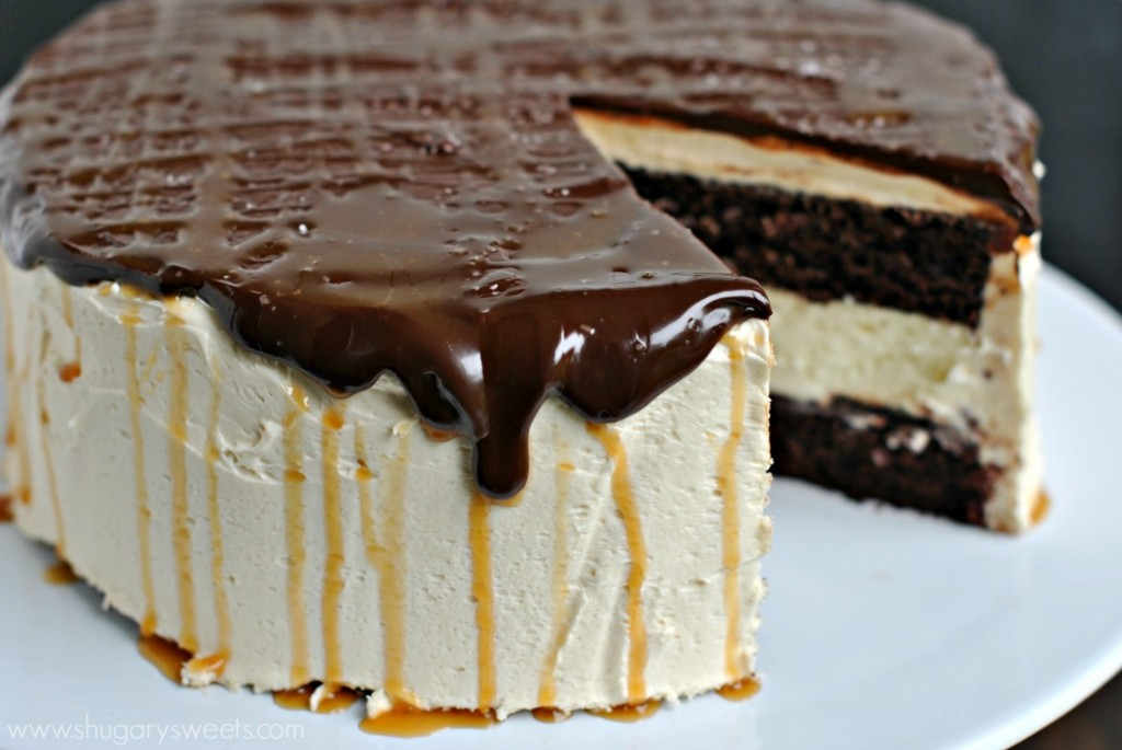Salted Caramel Chocolate Cheesecake Cake Recipe