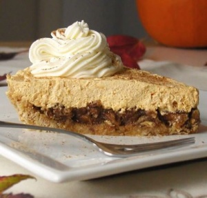 No Bake Pecan Pumpkin Cheesecake- 2