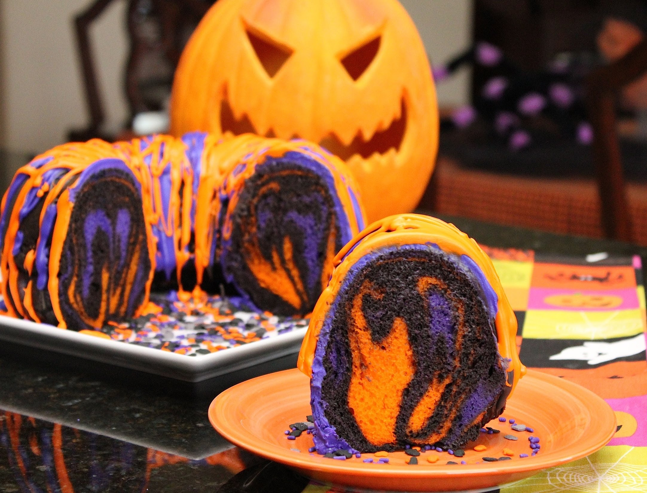 awesome halloween rainbow party cake desserts corner - Best Halloween Dessert Recipes