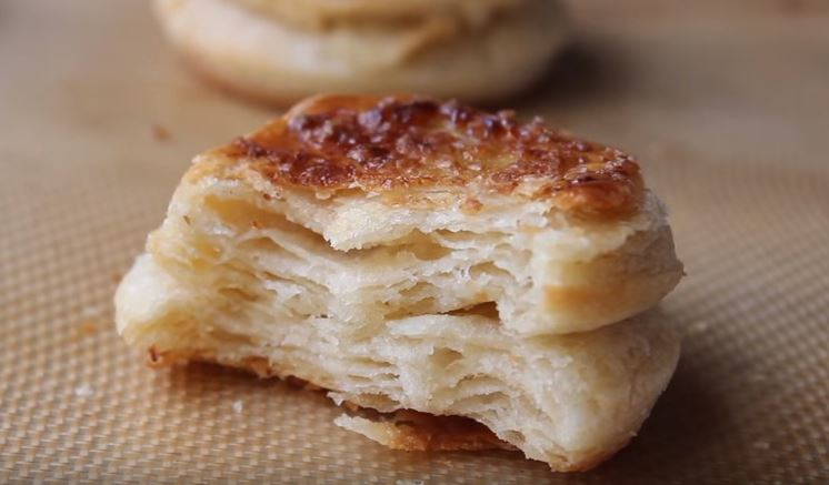 For a taste of homemade comfort, bake Alton Brown's buttery, flaky Southern Biscuits recipe from Good Eats on Food Network.
