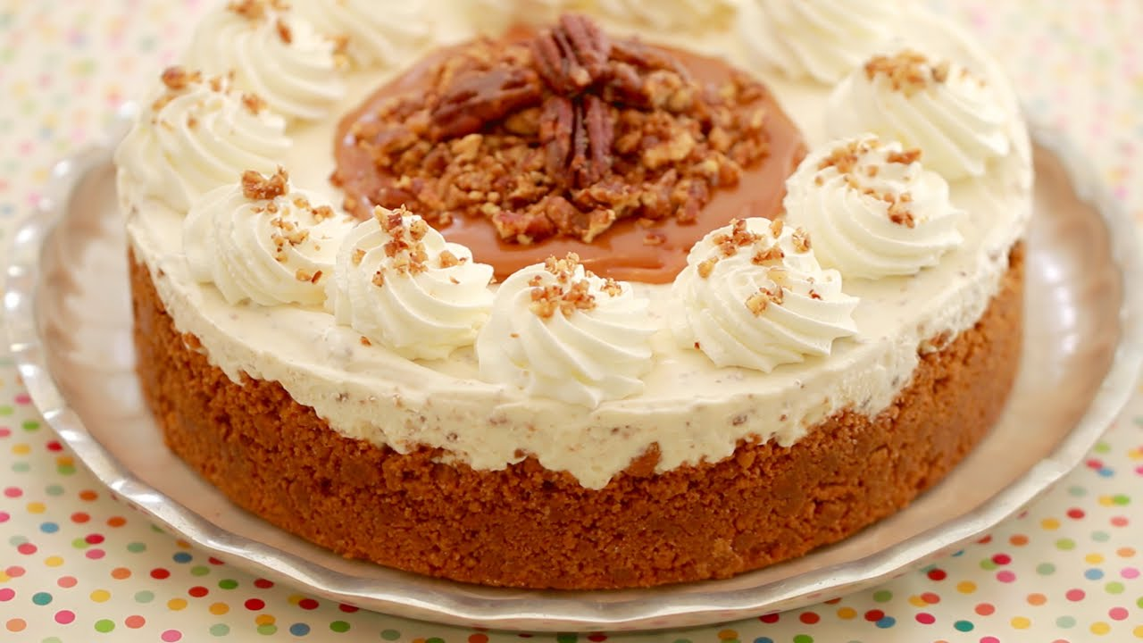 Enjoy The Comforting Flavors Of This Butter Pecan Ice Cream Cake
