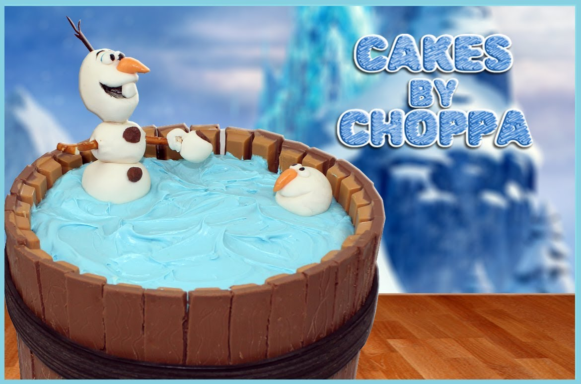 How to Make Frozens Olaf Kitkat Cake Desserts Corner