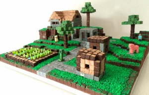 Minecraft Village Inspired Cake For Your Little One
