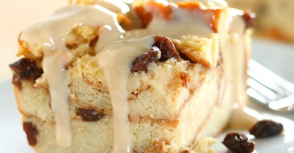 Bread Pudding with Vanilla Bourbon Sauce