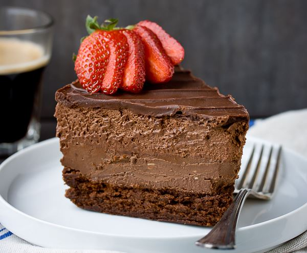 Fabulous Chocolate Mousse Cheesecake – 4 Times The Pleasure