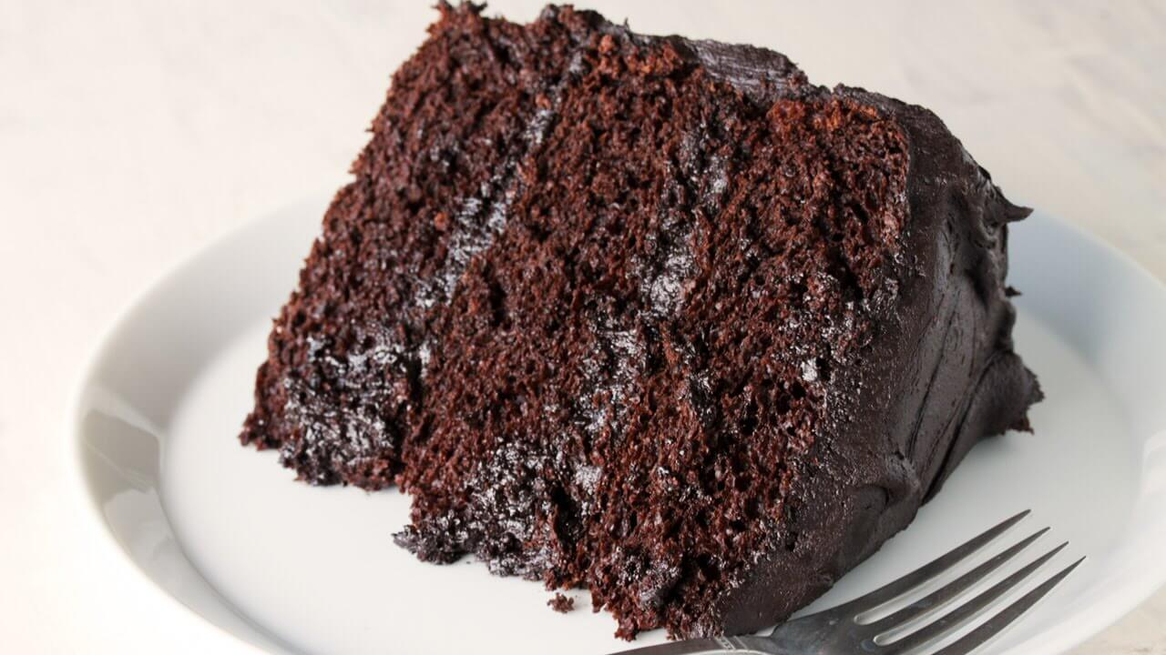 Heart Shaped Chocolate Fudge Cake Recipe