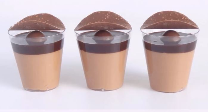 Get Charmed With These Chocolate & Caramel Shot Glass Desserts