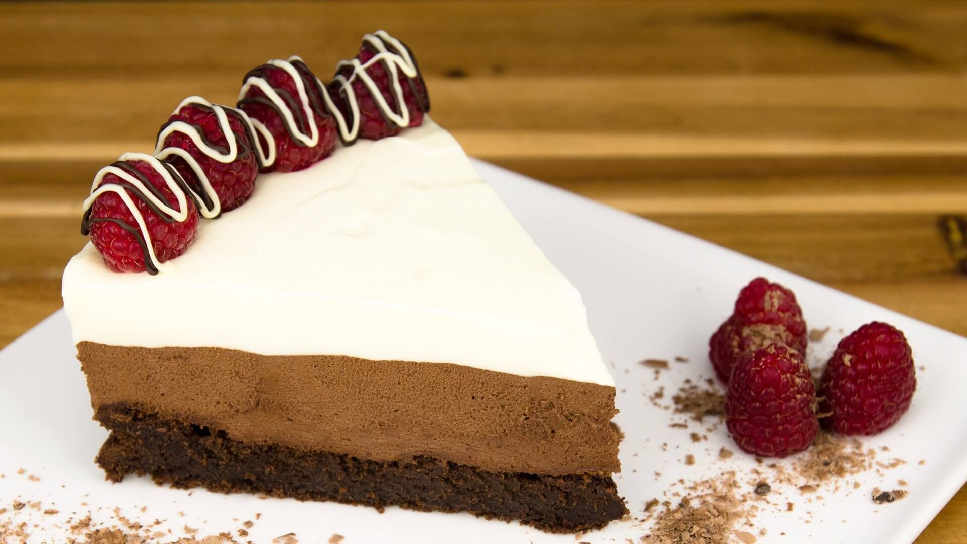 Heavenly Triple Chocolate Mousse Cake