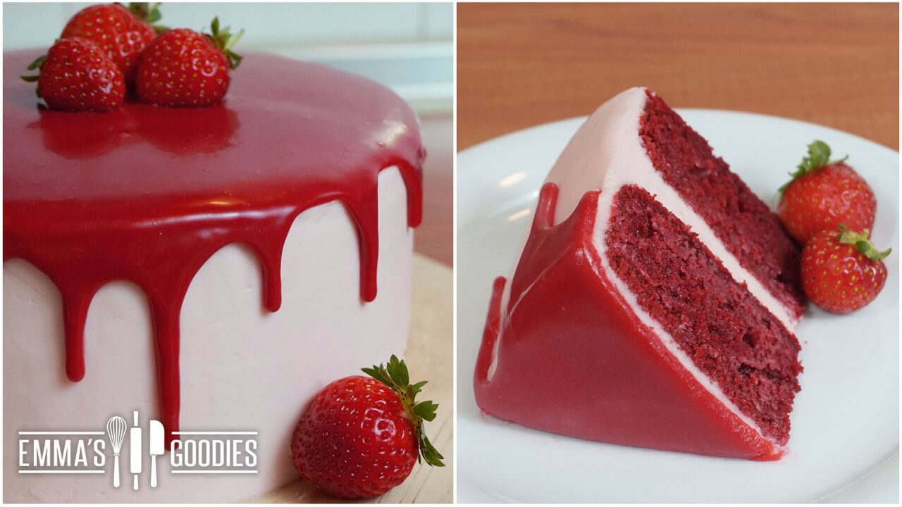 Easy Strawberry Cake Recipe With Cream Cheese Icing