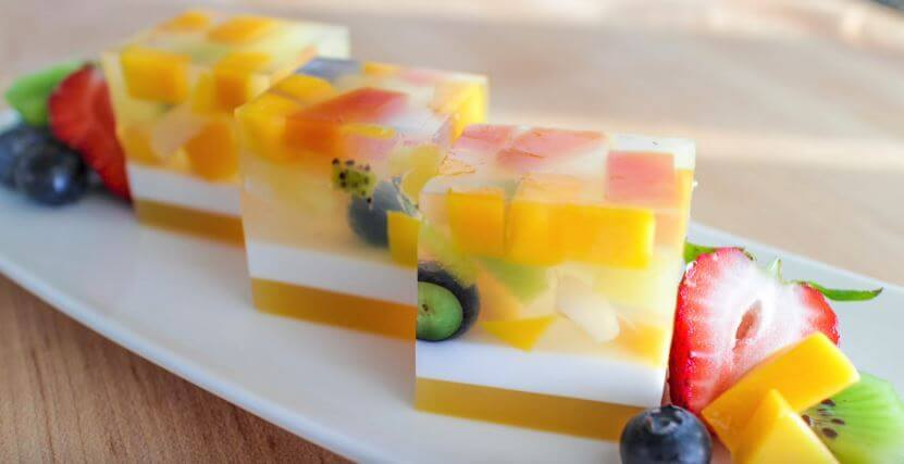 Flavorful Agar Jelly Fruit Cake