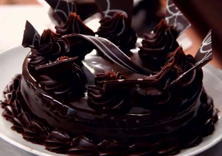 Superb Layered Chocolate Truffle Cake