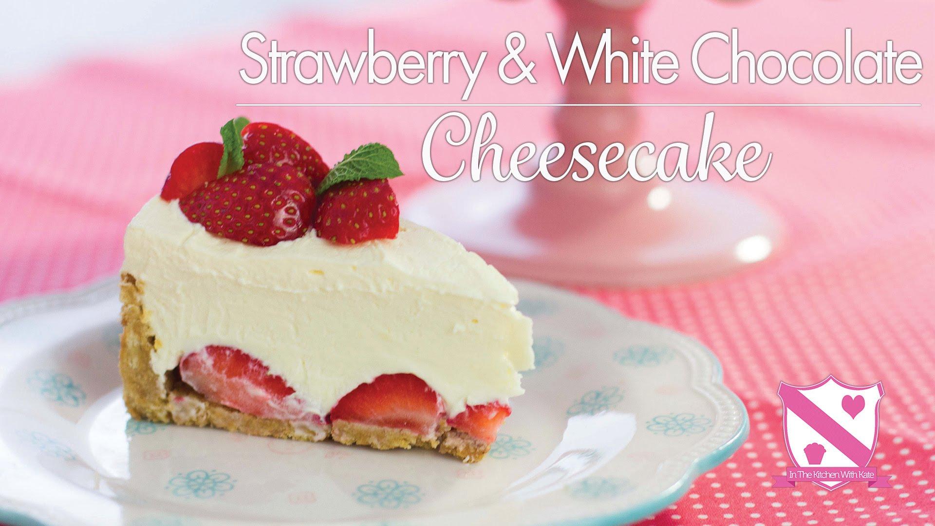Easy No Bake White Chocolate & Raspberry Cheesecake – Desserts Corner