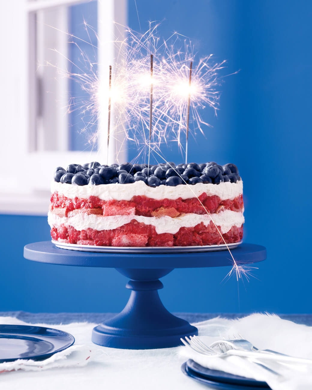Fantastic Amazing Red White Blue Berry Layered Trifle Cake Desserts Corner Funny Birthday Cards Online Alyptdamsfinfo